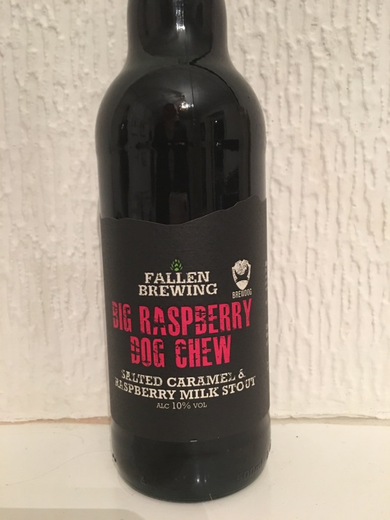 Brewdog, big raspberry dog chew, fallen brewery, beer review